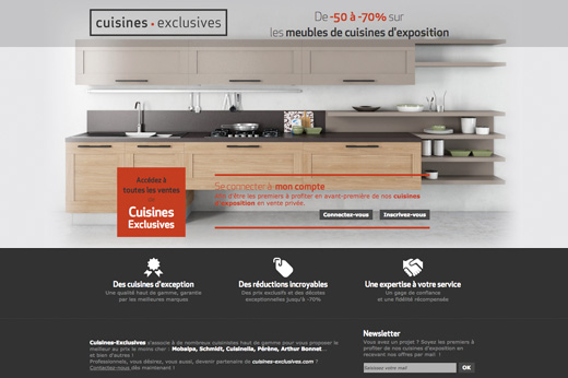 Site ecommerce cuisines exclusives