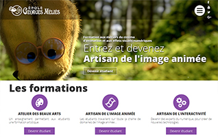 realisation site internet ecole georges melies cinema animation