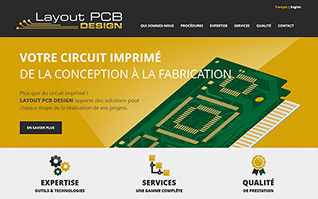 Site internet layout pcb design